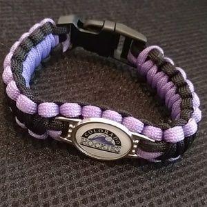 Colorado Rockies Authentic Paracord Bracelet